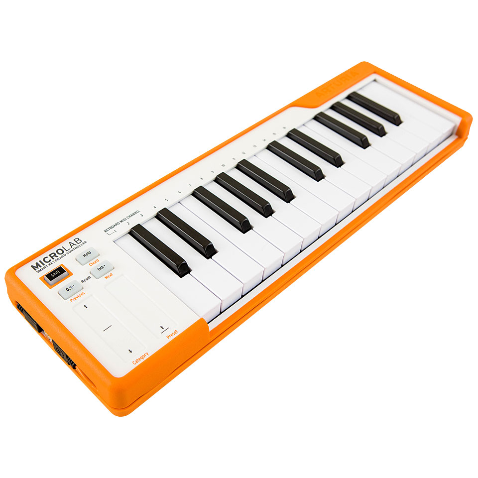 Midimasterkeyboards - Arturia MicroLab Orange Masterkeyboard - Onlineshop Musik Produktiv