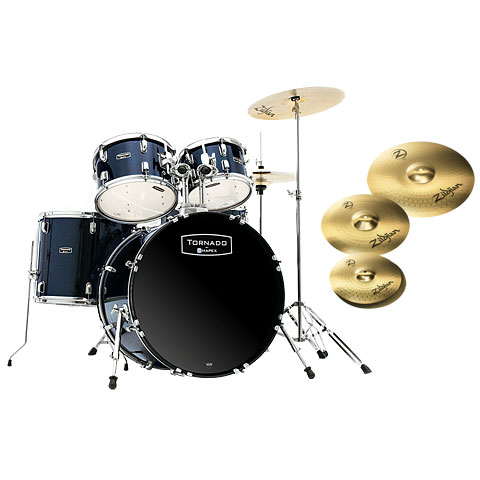 "Batterie acoustique Mapex Tornado 22"" Royal Blue/Zildjian Bundle"