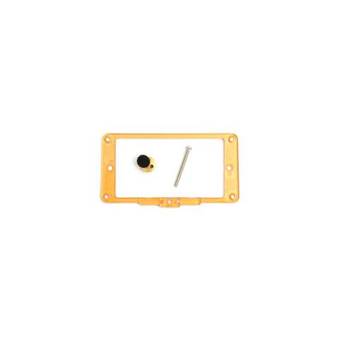 Duesenberg 3-Step Pickuprahmen Gold Plexi