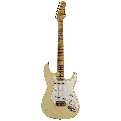 Haar Traditional S aged, Vintage White « Electric Guitar