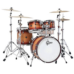 "Gretsch Drums Renown Maple 20"" Satin Tobacco Burst Shell Set « Batterie acoustique"