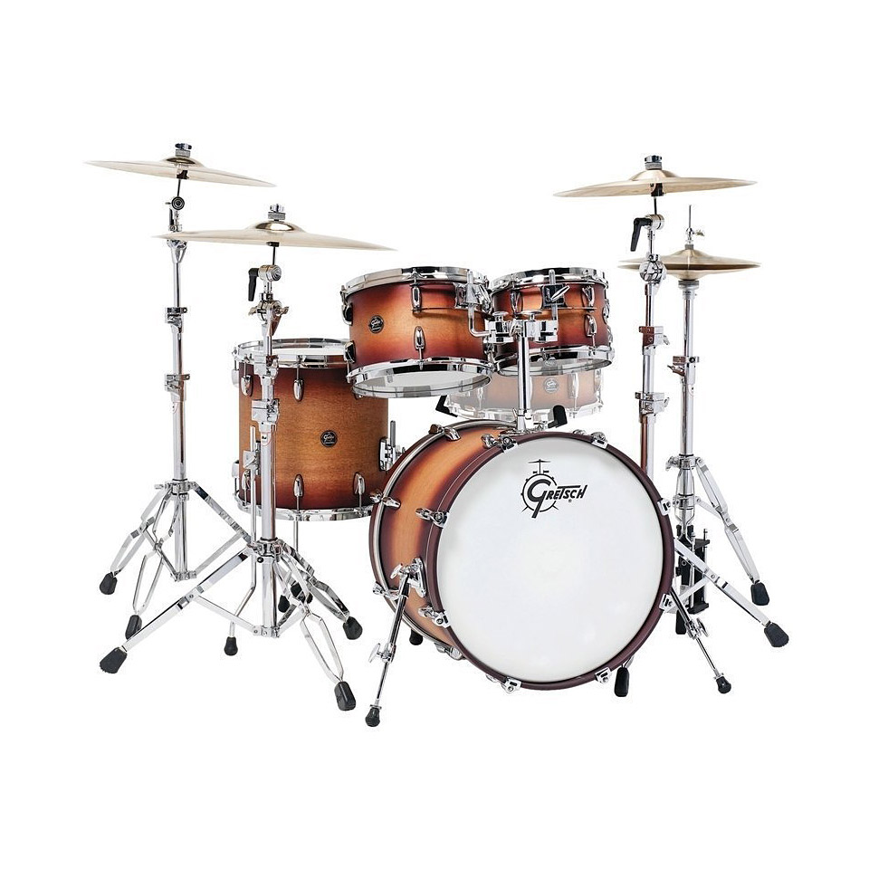 gretsch drums renown maple 20 satin tobacco burst shell set drum kit. Black Bedroom Furniture Sets. Home Design Ideas