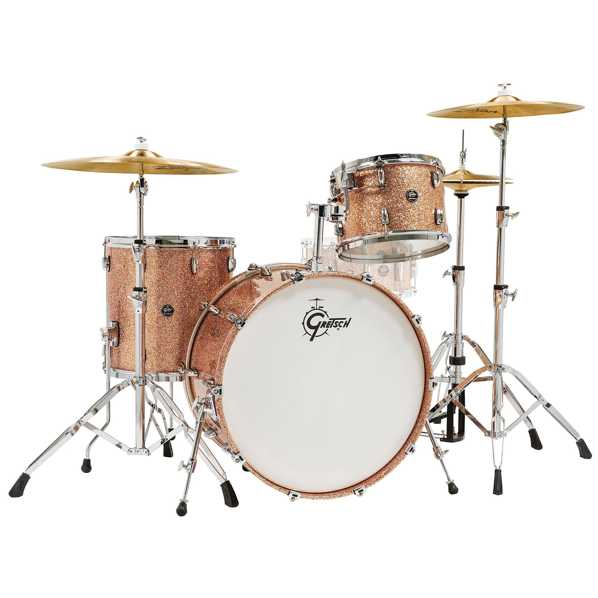 gretsch drums renown maple 24 copper premium sparkle shell set drum kit. Black Bedroom Furniture Sets. Home Design Ideas