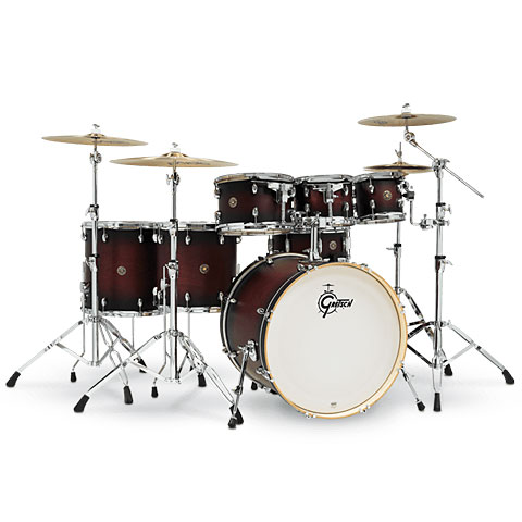 "Gretsch Drums Catalina Maple 22"" Satin Deep Cherry Burst 7 Pcs. Shellset"