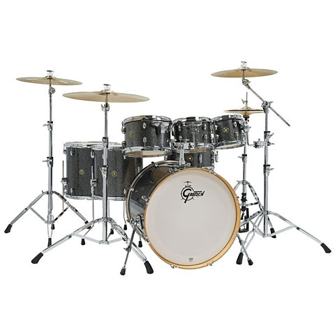 "Batterie acoustique Gretsch Drums Catalina Maple 22"" Black Stardust 7 Pcs. Shellset"