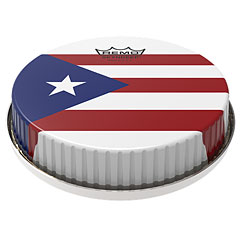 """Remo R-Series Skyndeep Bongo Head 7,15"""" Puerto Rican Flag Graphic « Percussion-Fell"""