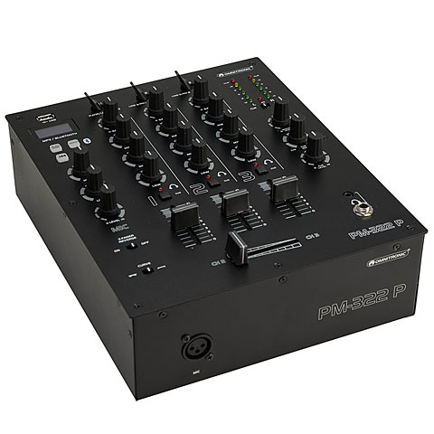 DJ Mixer Omnitronic PM-322P 3-Channel with Bluetooth and USB Player