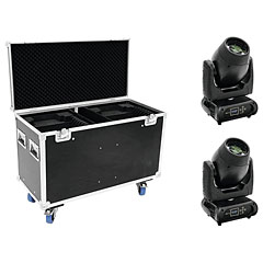 Futurelight Set 2x DMB-160 LED Moving-Head + Case « Bewegende kop