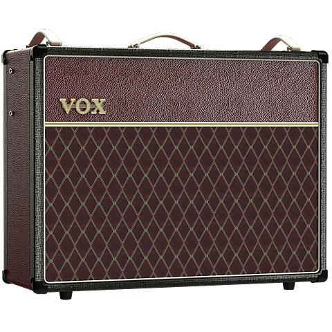 Amplificador guitarra eléctrica VOX AC30C2 Black Maroon Two Tone ltd. Edition