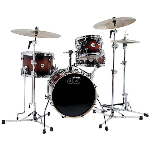 "Schlagzeug DW Design 16"" Tobacco Burst Mini Pro Set"