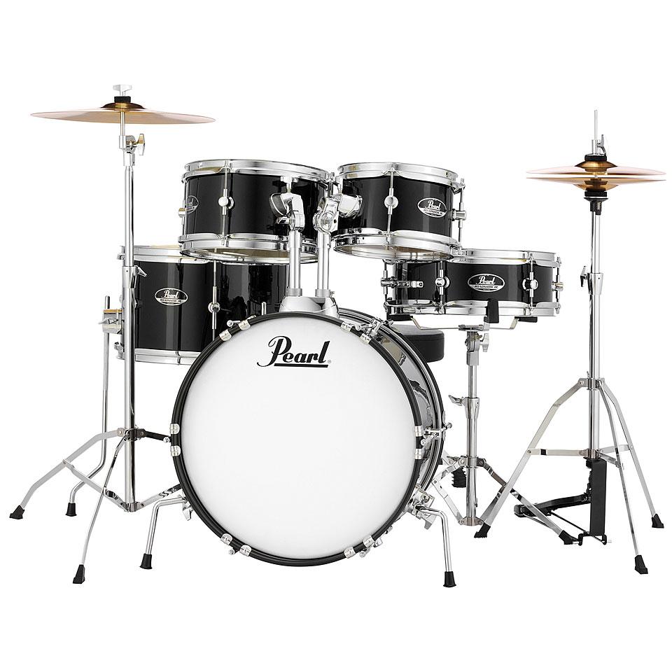 Akustikdrums - Pearl Roadshow Junior Jet Black Complete Set Schlagzeug - Onlineshop Musik Produktiv