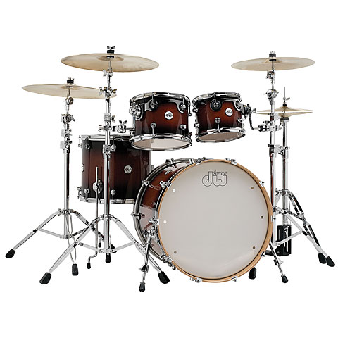 "Schlagzeug DW Design 22"" Tobacco Burst Shell-Set 4-Pcs."
