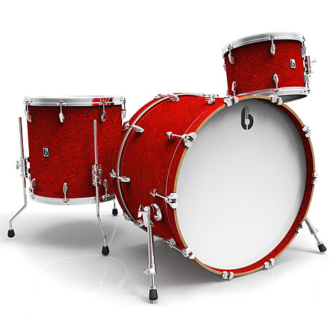 Drumstel British Drum Co. Legend Club 24'' Buckingham Scarlett Shell Set