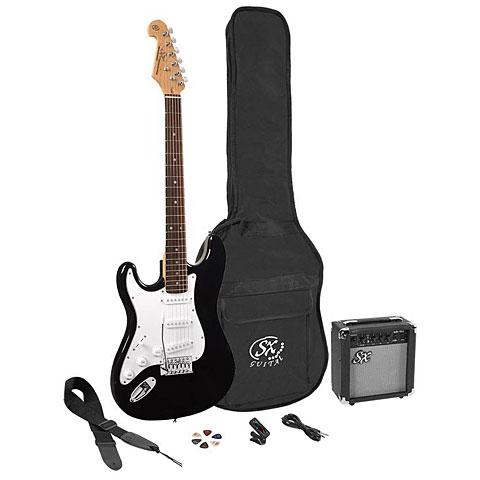 Set guitarra eléctrica SX Guitars SX SE1SK-LHBK