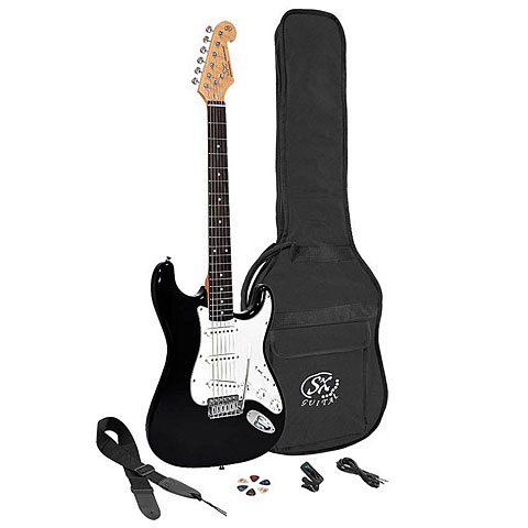 Pack guitare électrique SX Guitars SE1SK-BK
