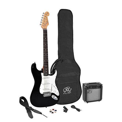E-Gitarren Set SX Guitars SX SE1SK-BK + GA1065