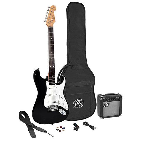 Pack guitare électrique SX Guitars SE1SK34-BK 3/4 + GA1065