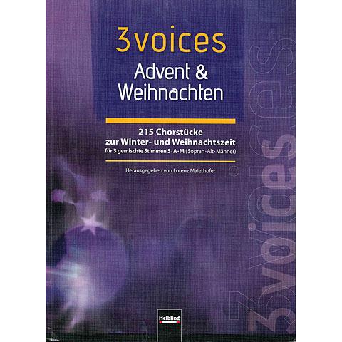 Chornoten Helbling 3 Voices Advent und Weihnachten