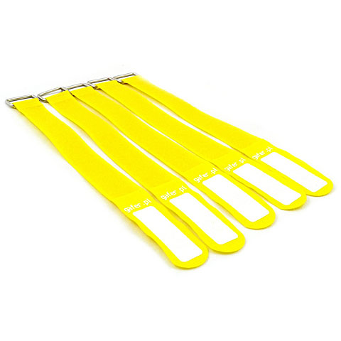 Pequeños accesorios Gafer.pl Tie Staps 25x400mm 5 pieces yellow