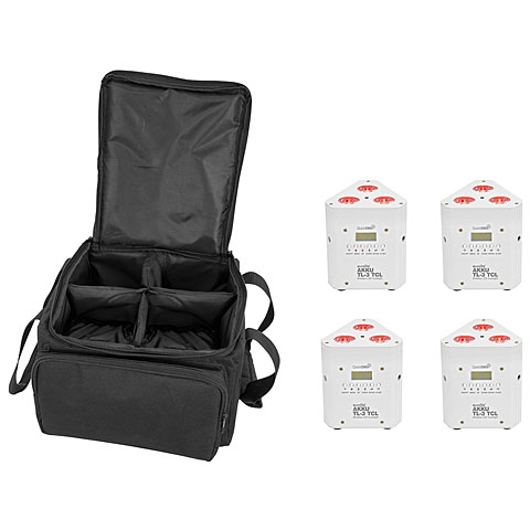 Accuindicatie Eurolite Set 4x AKKU TL-3 TCL wh + SB-4 Soft-Bag