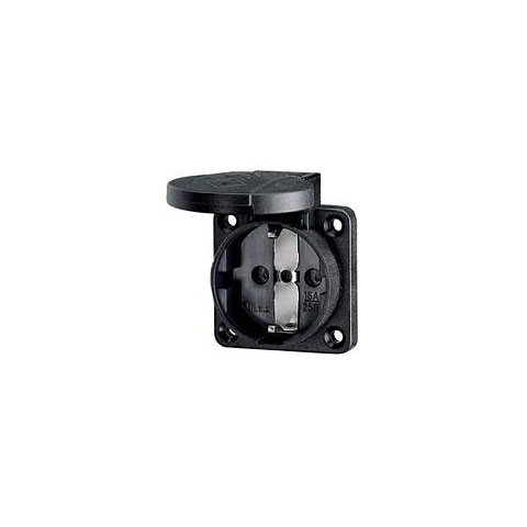 Fiche de secteur Mennekes Schukoeinbausteckdose black 1,5 - 2,5mm²