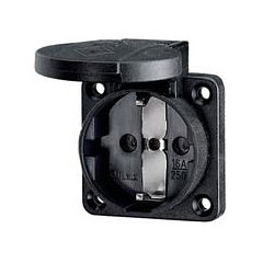 Mennekes Schukoeinbausteckdose black 1,5 - 2,5mm² « Power Plug