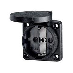 Mennekes Schukoeinbausteckdose black 1,5 - 2,5mm² « Conector de red