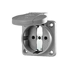 Mennekes Schukoeinbausteckdose grey 1,5 - 2,5 mm² « Power Plug