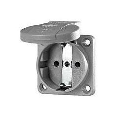 Mennekes Schukoeinbausteckdose grey 1,5 - 2,5 mm² « Conector de red