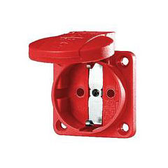 Mennekes Schukoeinbausteckdose red 1,5 - 2,5 mm² « Power Plug