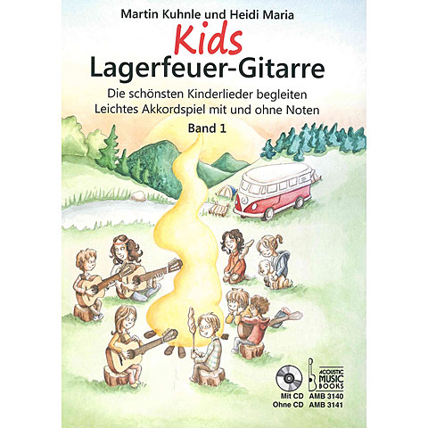 Recueil de Partitions Acoustic Music Books KIDS Lagerfeuergitarre