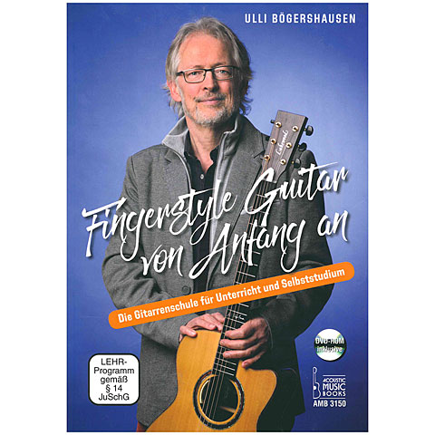 Instructional Book Acoustic Music Books Fingerstyle Guitar von Anfang an