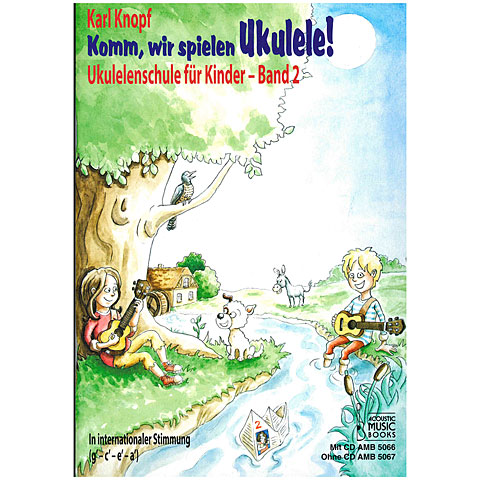 Manuel pédagogique Acoustic Music Books Komm, wir spielen Ukulele! Band 2 (+CD)