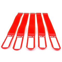 Gafer.pl Tie Staps 25x550mm 5 pieces red « Piccoli materiali & accessori per cavi