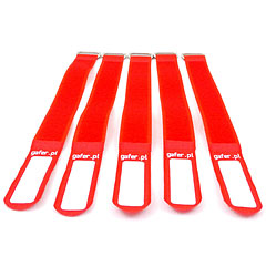 Gafer.pl Tie Staps 25x400mm 5 pieces red « Kleingoed & kabel accesoires