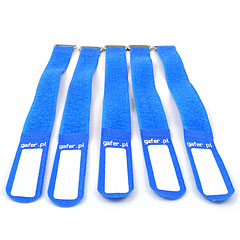 Gafer.pl Tie Staps 25x550mm 5 pieces blue « Piccoli materiali & accessori per cavi