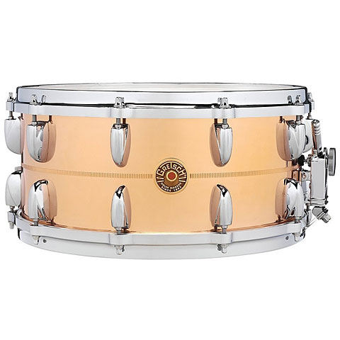 "Snare Gretsch Drums USA 14"" x 6,5"" Bronze Snare"