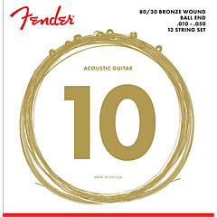 Fender 80/20 Bronze Acoustic Strings (12-String) « Cuerdas guitarra eléctr.