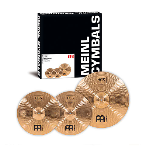 Pack de cymbales Meinl HCS Bronze Basic Cymbal Set (14HH/18CR)