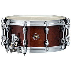 "Tama Starphonic Bravura 14"" x 6"" Gloss Mocha Brown Concert Snare with Multi Frame « Caisse claire"