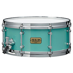 "Tama S.L.P. 14"" x 6,5"" Turquoise Fat Spruce Snare « Caisse claire"