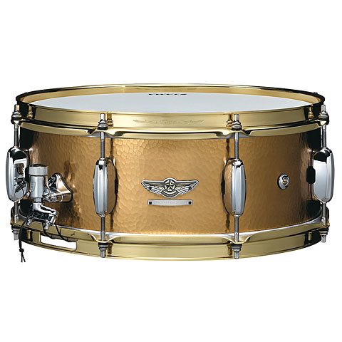 """Snare Drum Tama Star Reserve TBRS1455H 14"""" x 5,5"""" Hand Hammered Brass Snare"""