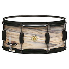 """Tama Woodworks WP1465BK-NZW 14"""" x 6,5"""" Natural Zebrawood Wrap Snare « Caisse claire"""