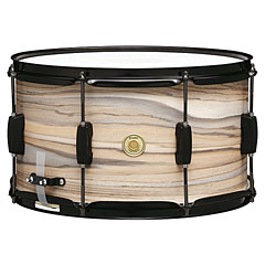 """Tama Woodworks WP148BK-NZW 14"""" x 8"""" Natural Zebrawood Wrap Snare « Caisse claire"""