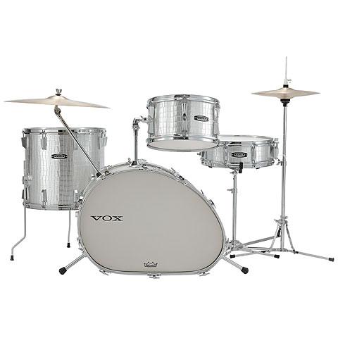 """Schlagzeug VOX Telstar Oval 18"""" Silver Kroko Drumset"""