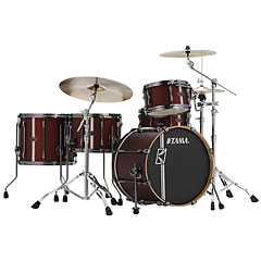 "Tama Superstar Custom Hyper Drive / Duo 20"" Satin Burgundy Vertical Stripe « Batterie acoustique"