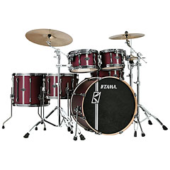 "Tama Superstar Custom Hyper Drive / Duo 22"" Satin Burgundy Vertical Stripe « Drumstel"