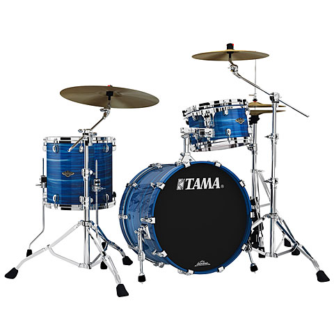 "Schlagzeug Tama Starclassic Walnut/Birch 3 Pcs. Lacquer Ocean Blue Ripple 20"" Shell Set"