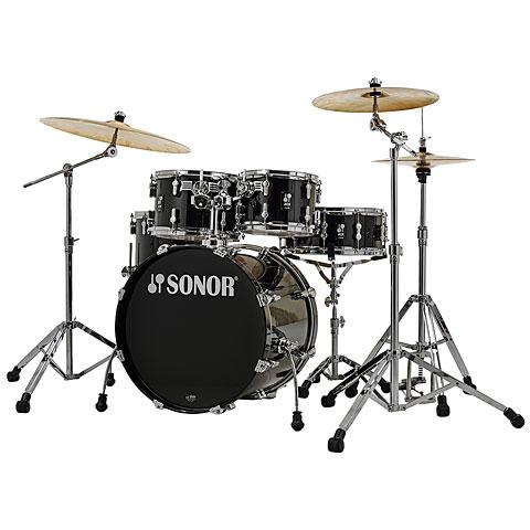 "Schlagzeug Sonor AQ1 20"" Piano Black Studio Drumset"