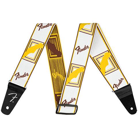 """Correas guitarra/bajo Fender Mono Weightless 2"""" White/Brown/Yellow"""